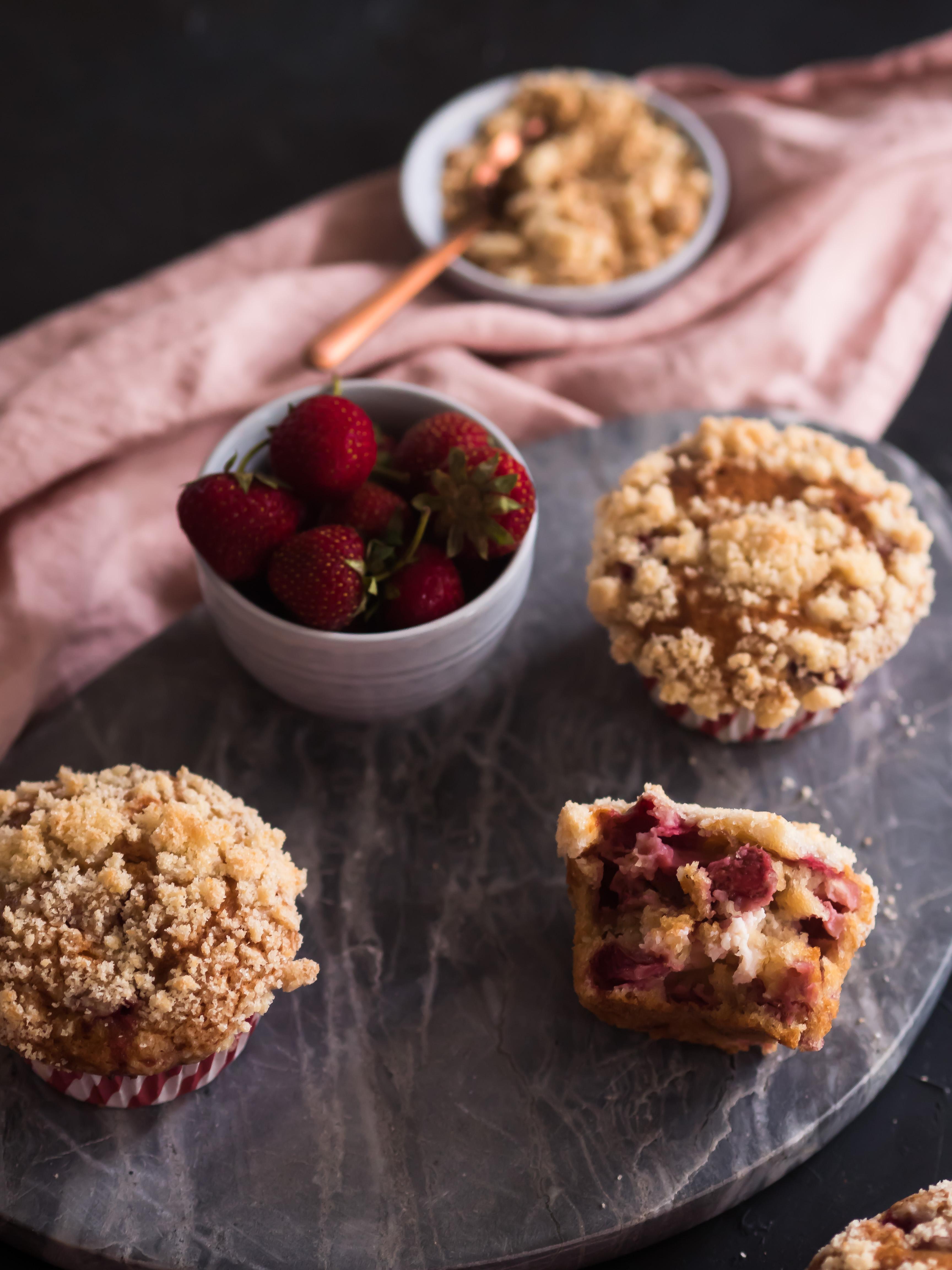 Erdbeer Cheesecake Muffins
