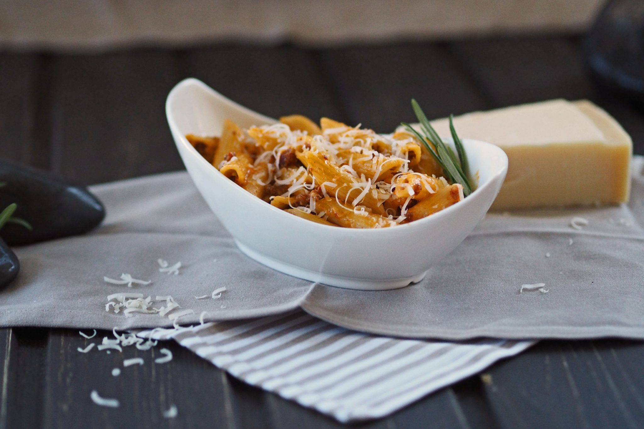 Pasta Chorizo Carbonara Parmesan