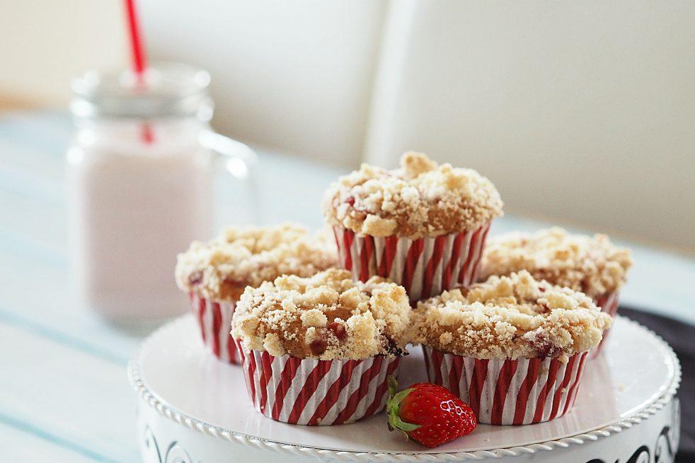 Cheesecake Muffins und Milchshake