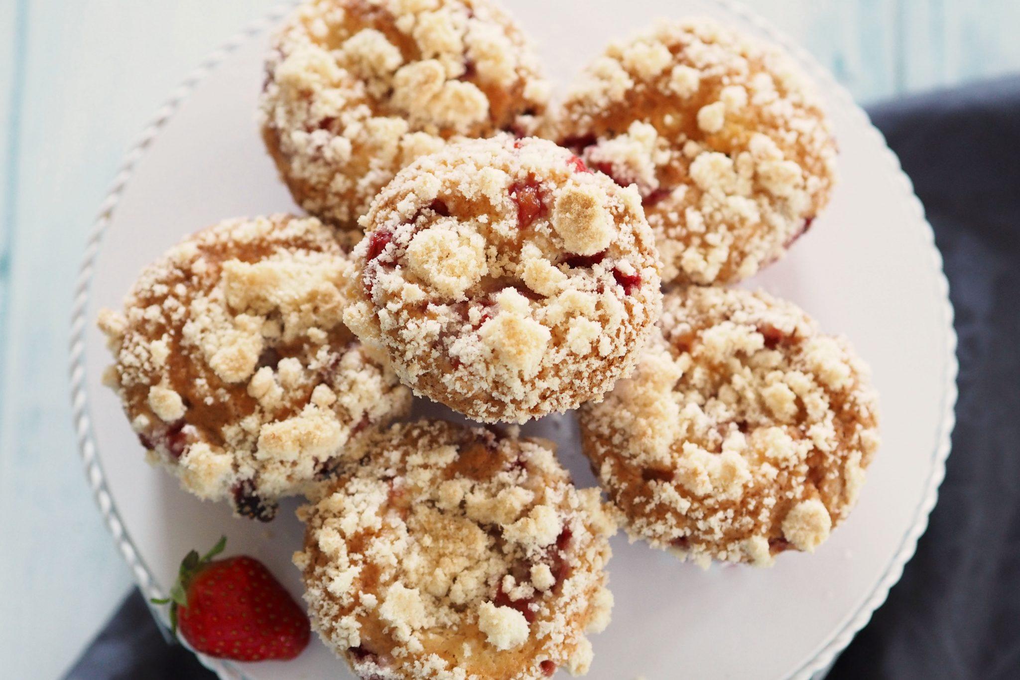 Erdbeer Cheesecake Streusel Muffins