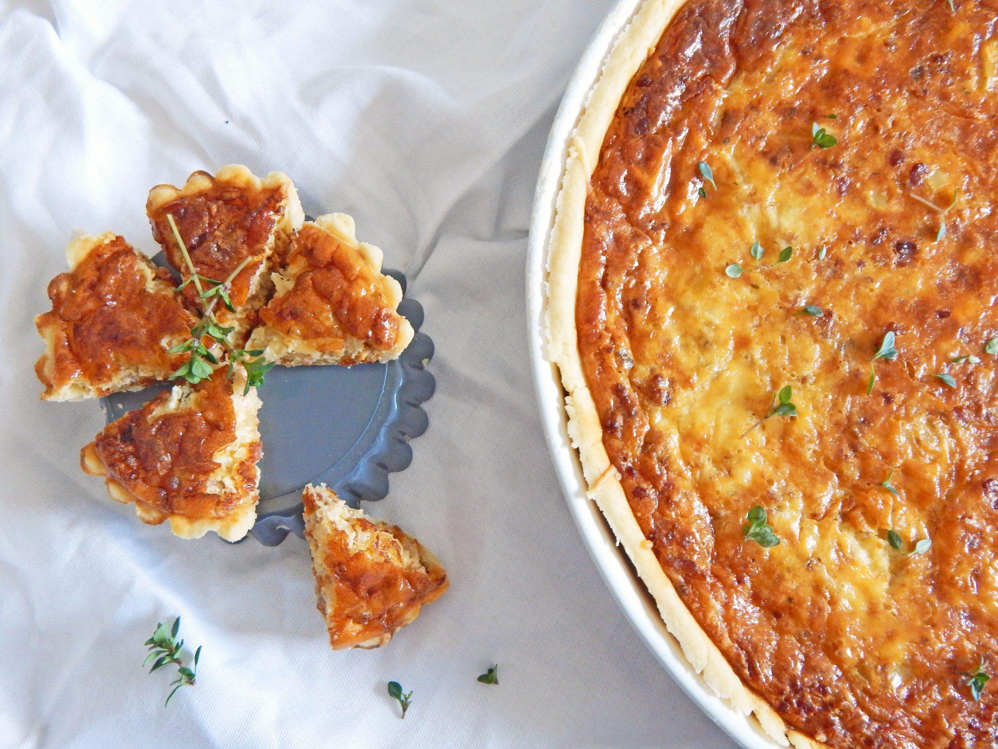 Quiche mit Faschiertem und Chorizo