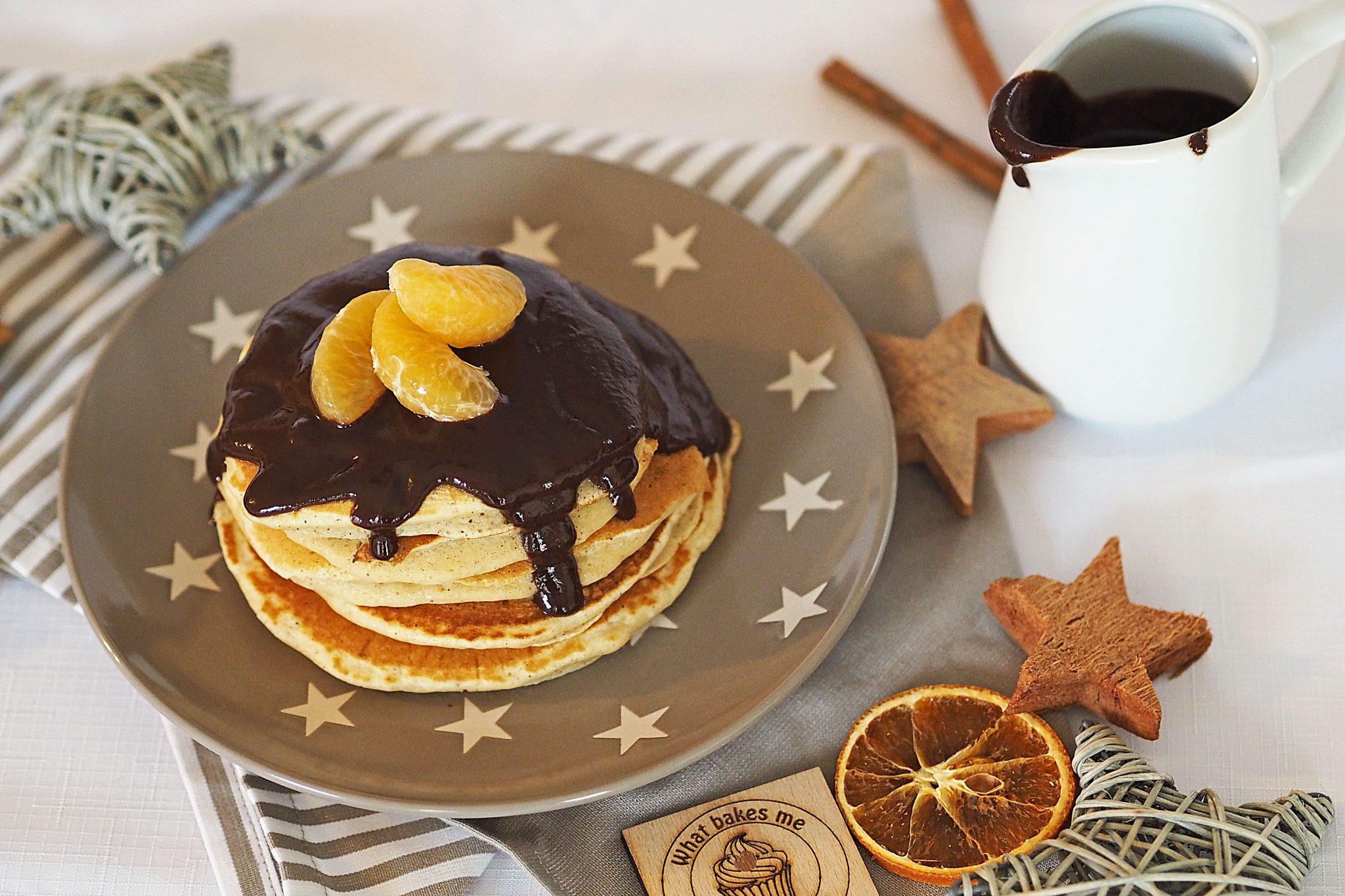 Lebkuchen Pancakes Schokosauce