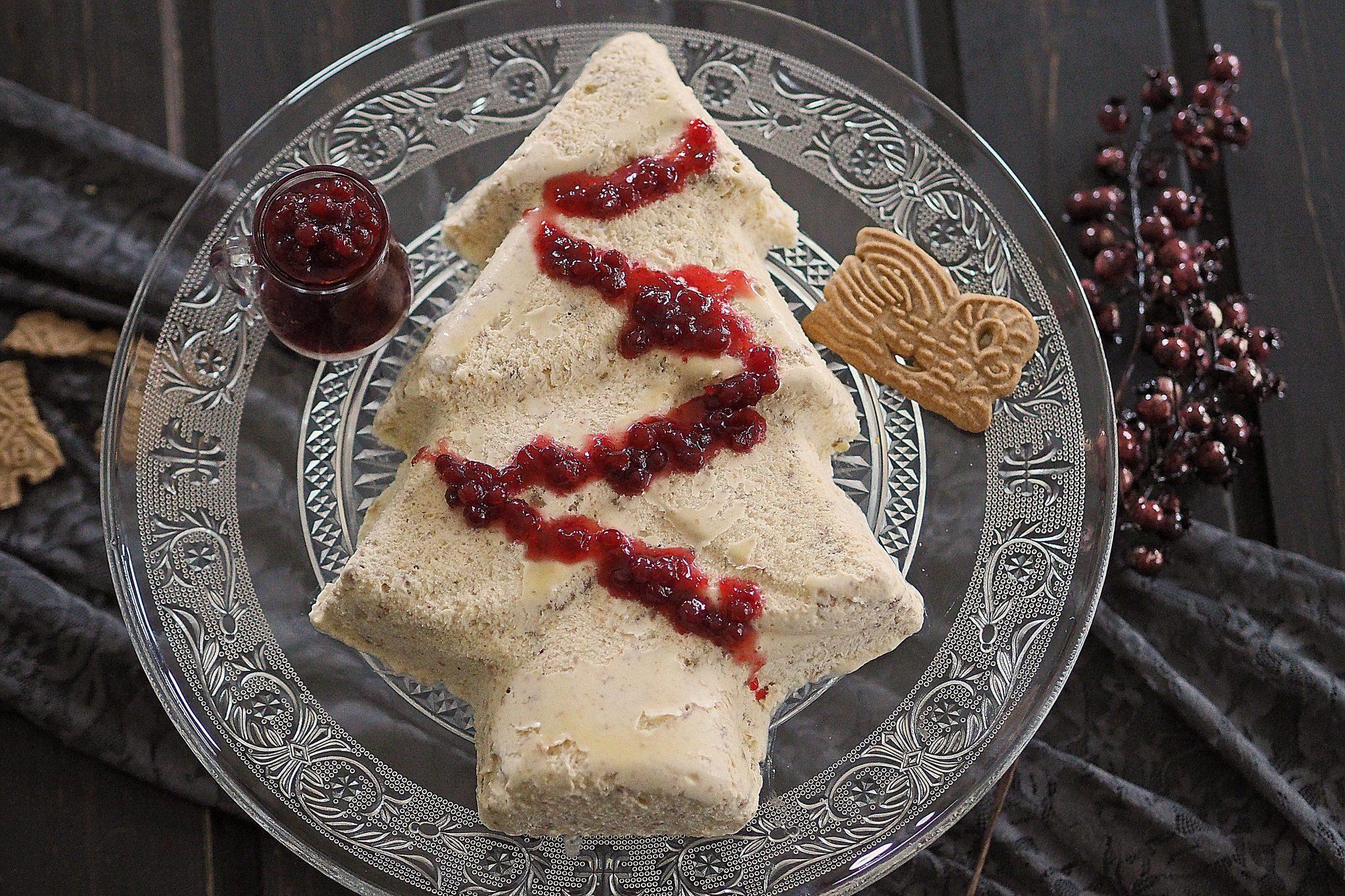 Weihnachtseis Dessert Spekulatius