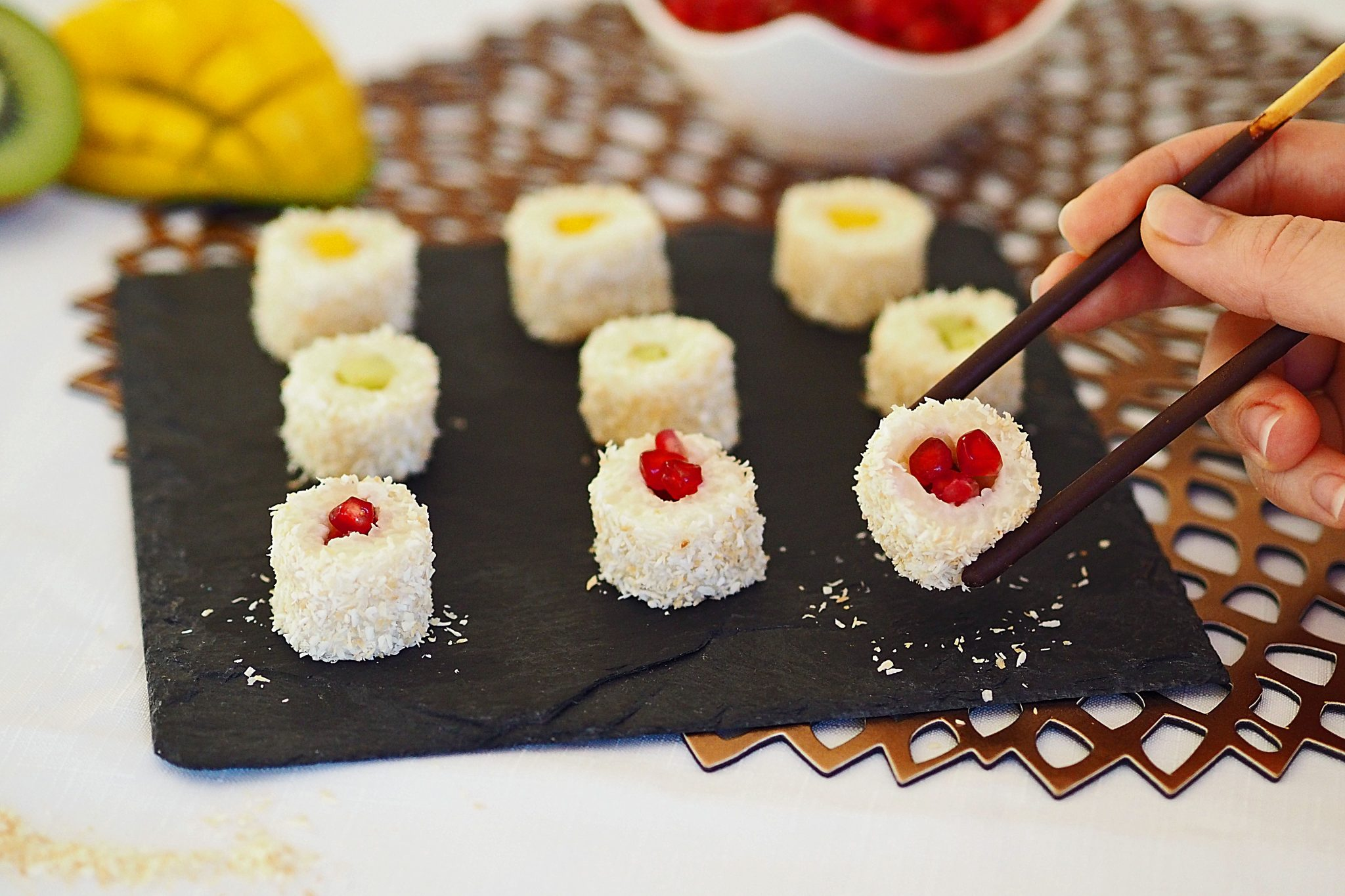Kokosmilchreis Milchreis-Sushi