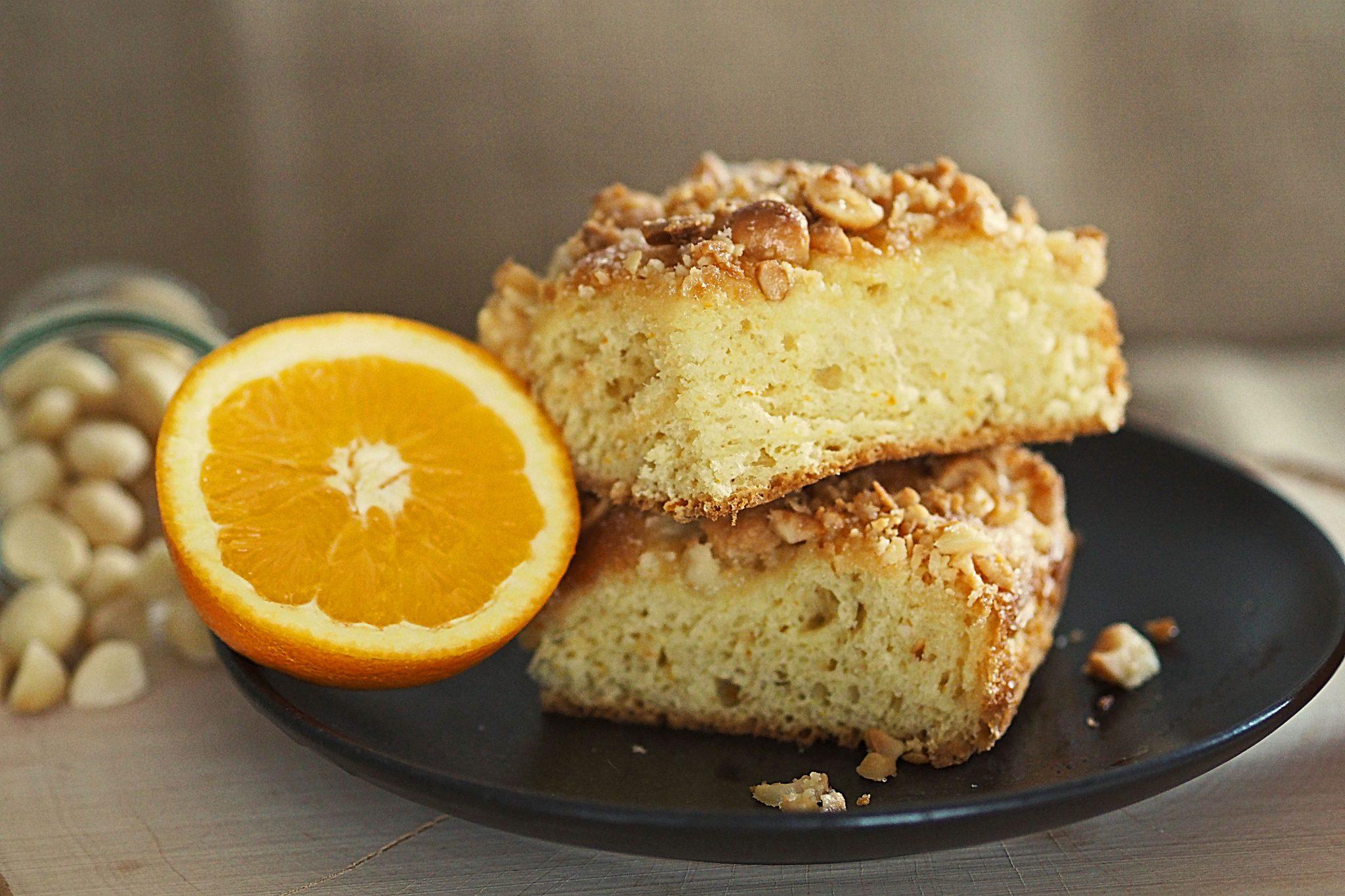 Macadamia-Blechkuchen