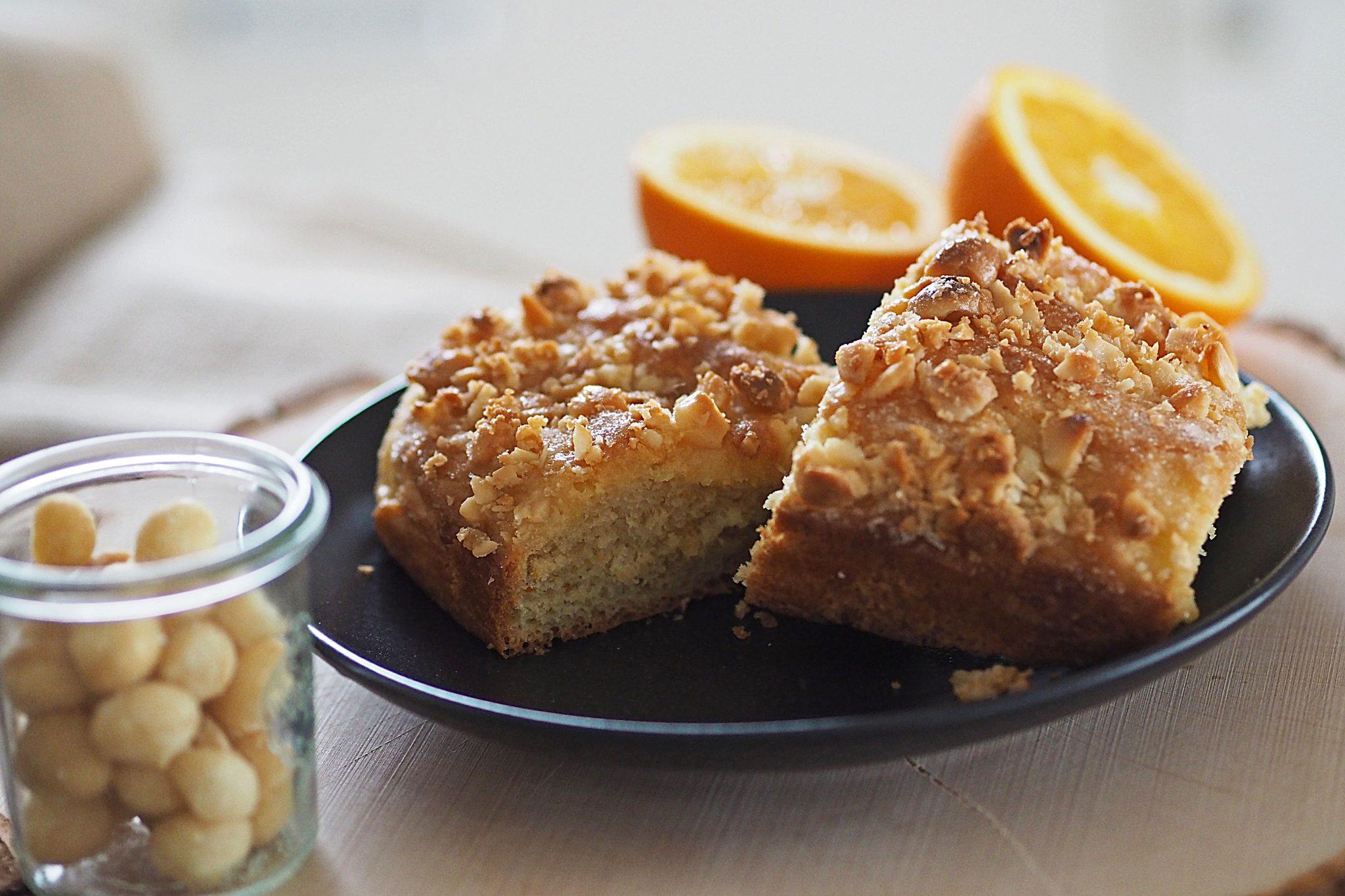 Butterkuchen mit Orangen