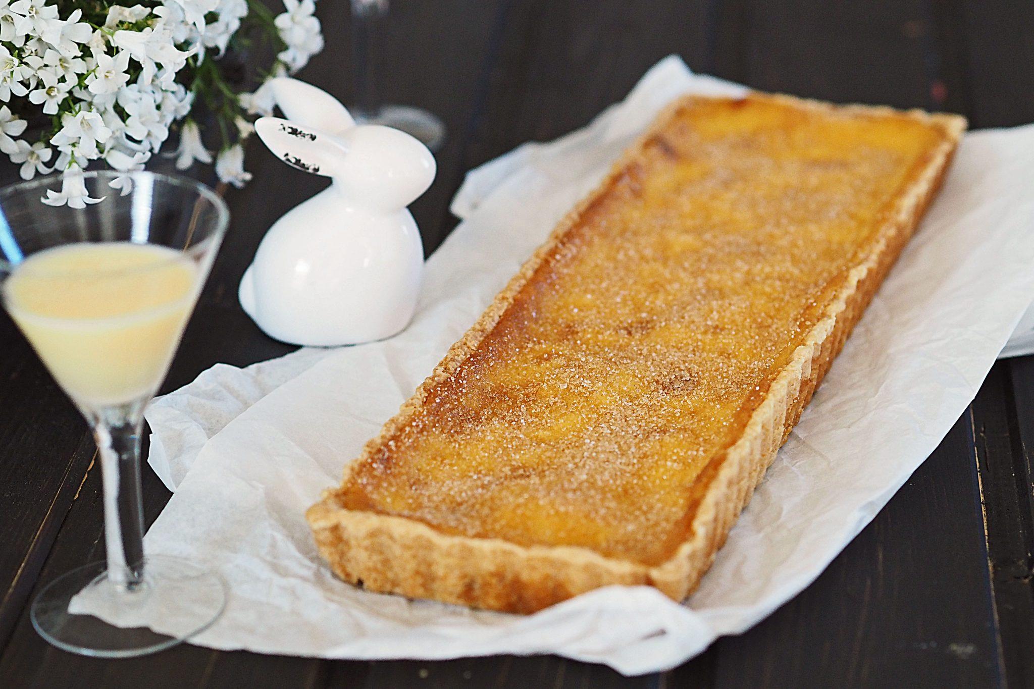 Eierlikör-Creme-brulee Tarte