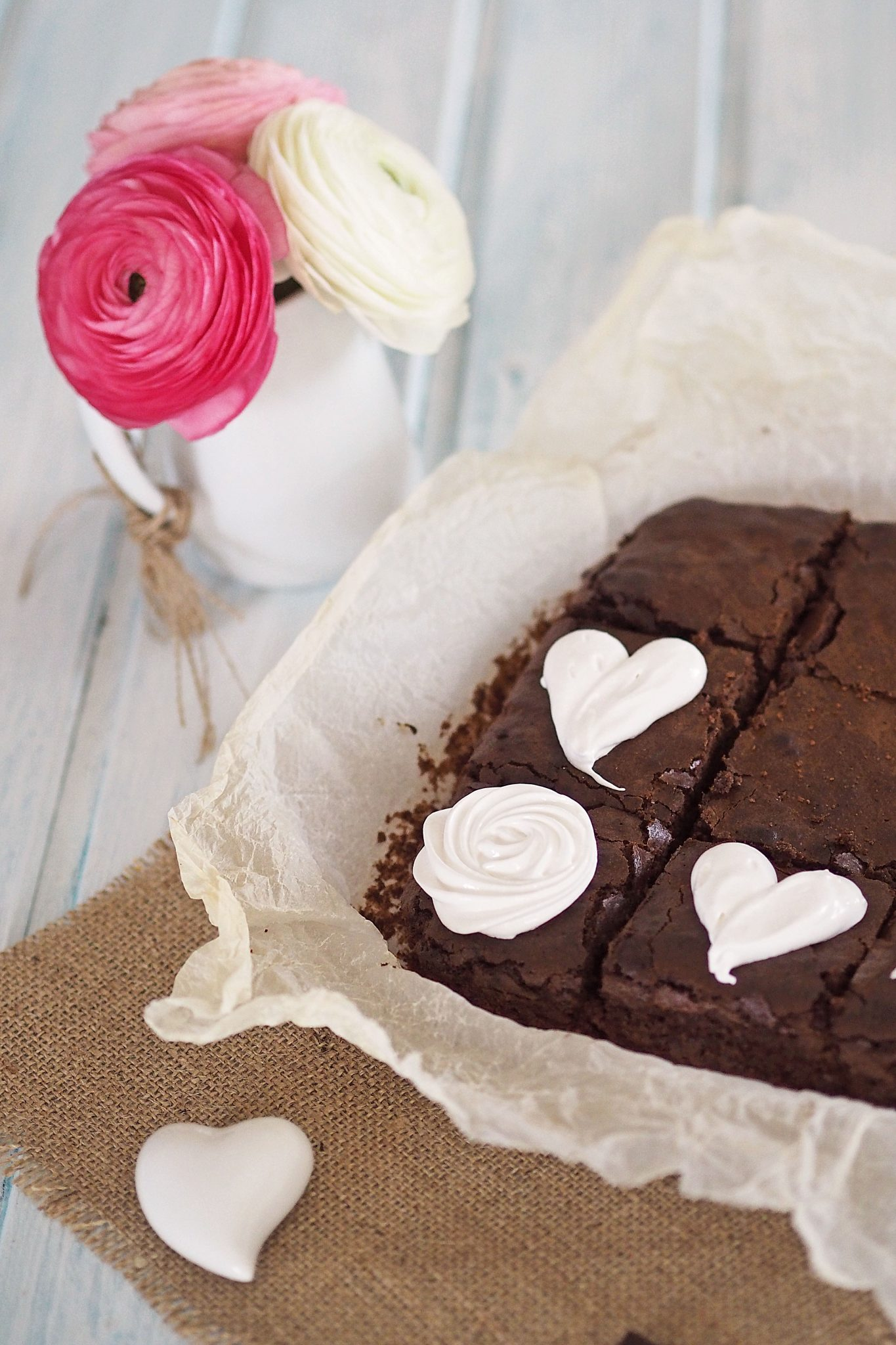 Muttertags Brownies Schokokuchen