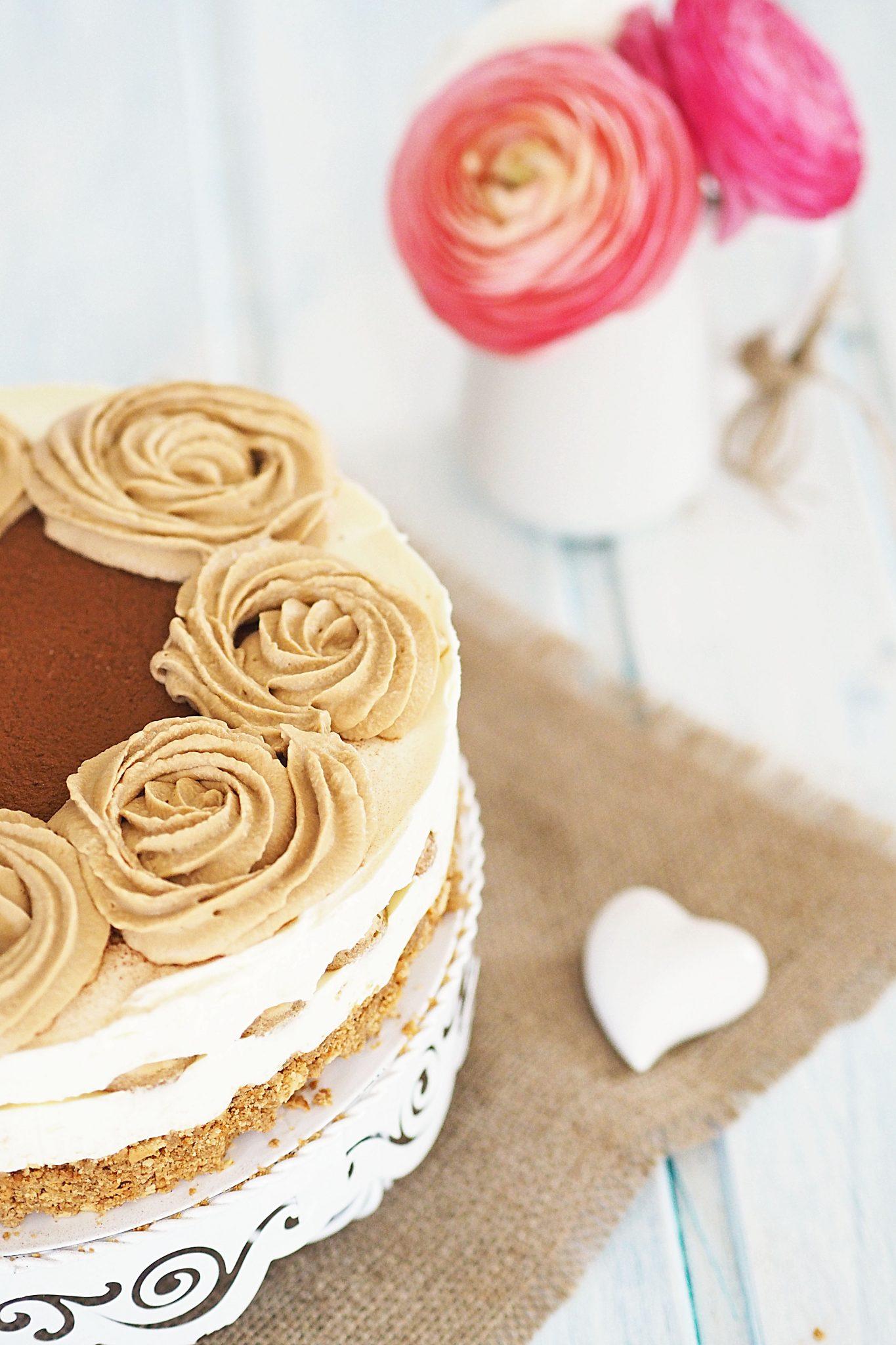 Fast No bake Cheesecake a la Tiramisu