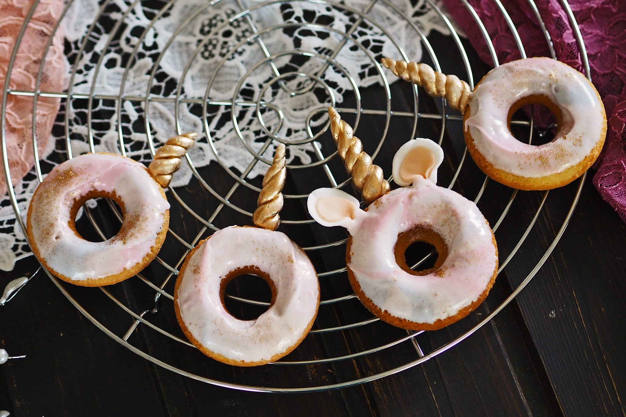 Unicorn Galaxy Glaze Donuts