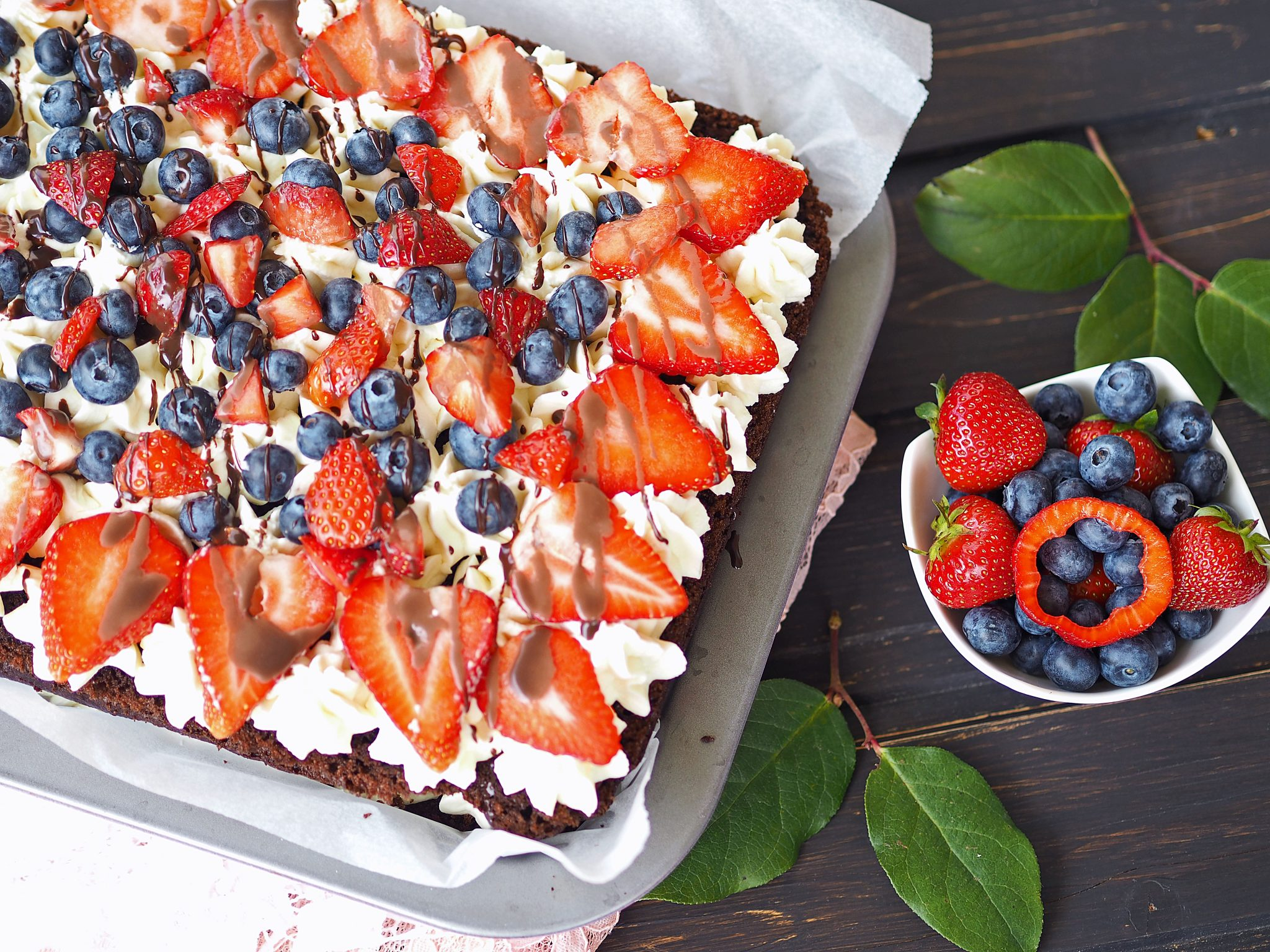 Blechkuchen Naked Cake