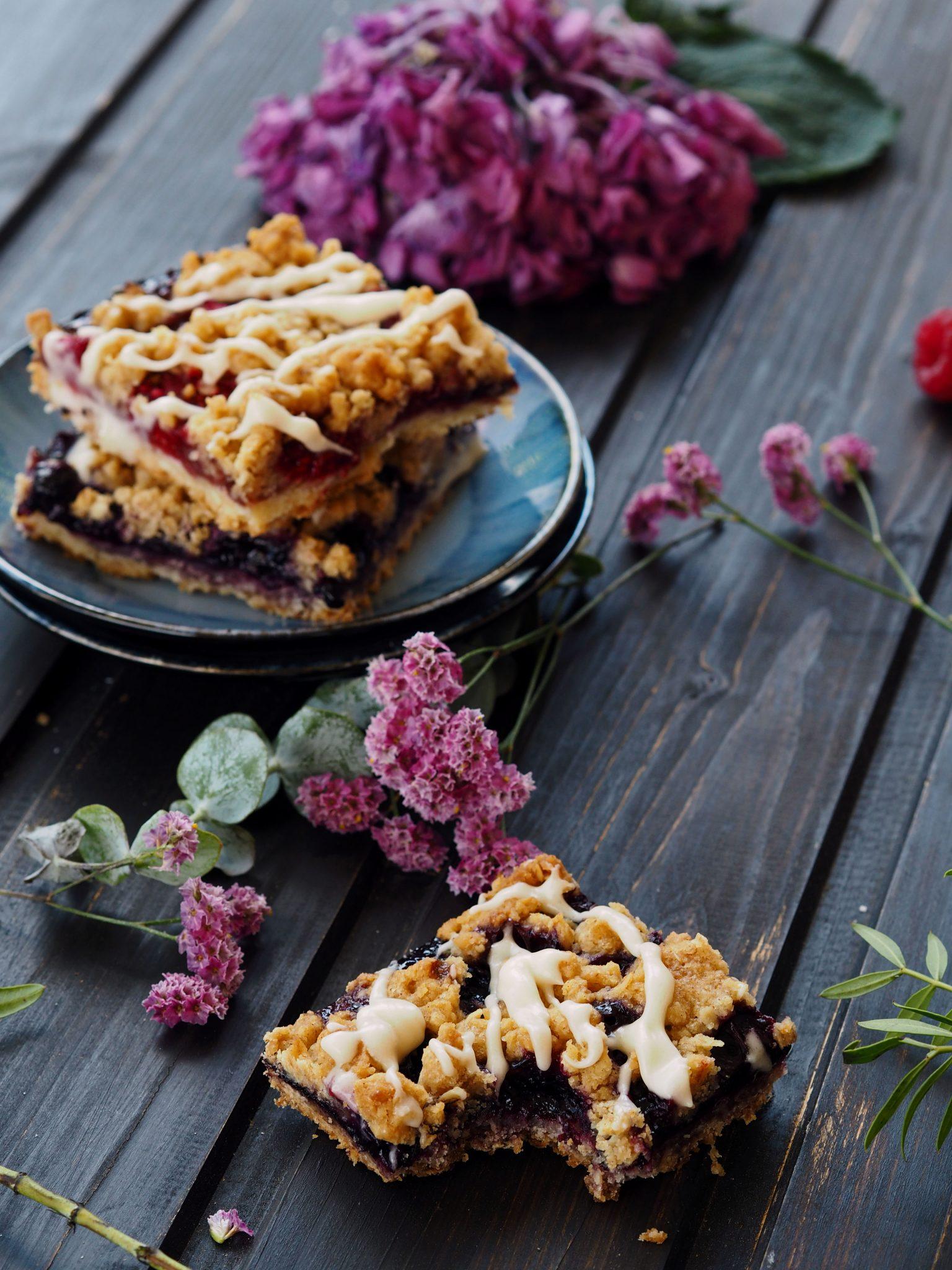 Streusel-Riegel mit Marmelade