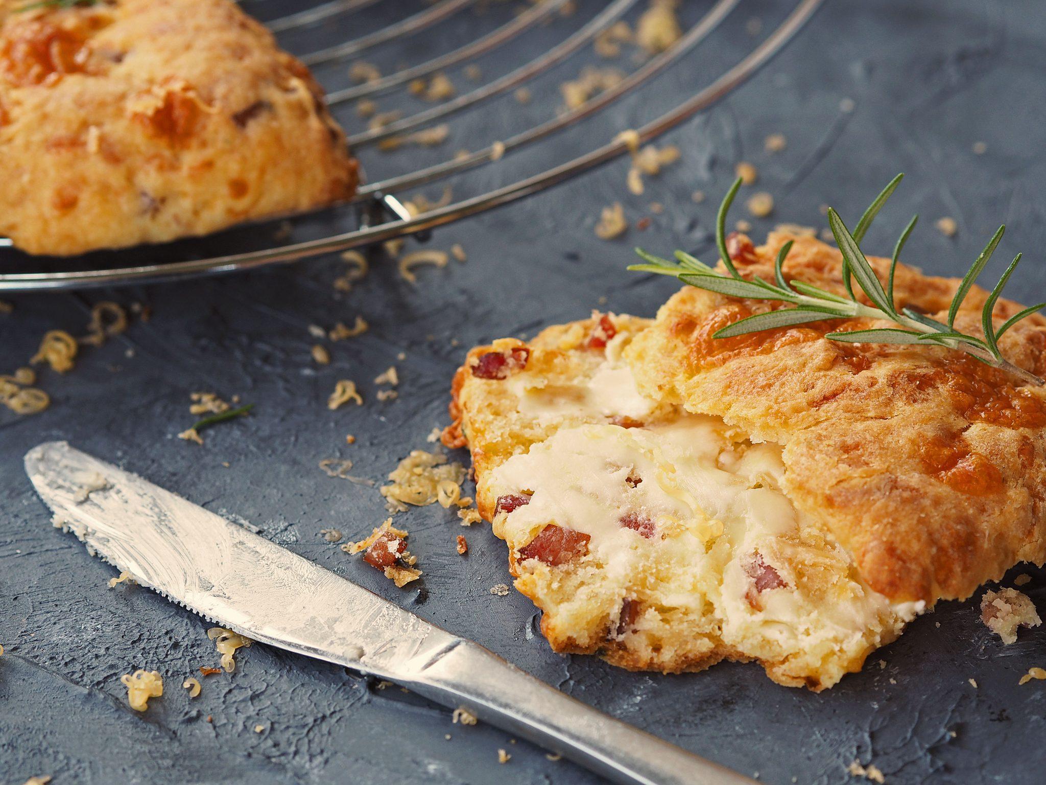pikante Käse-Scones