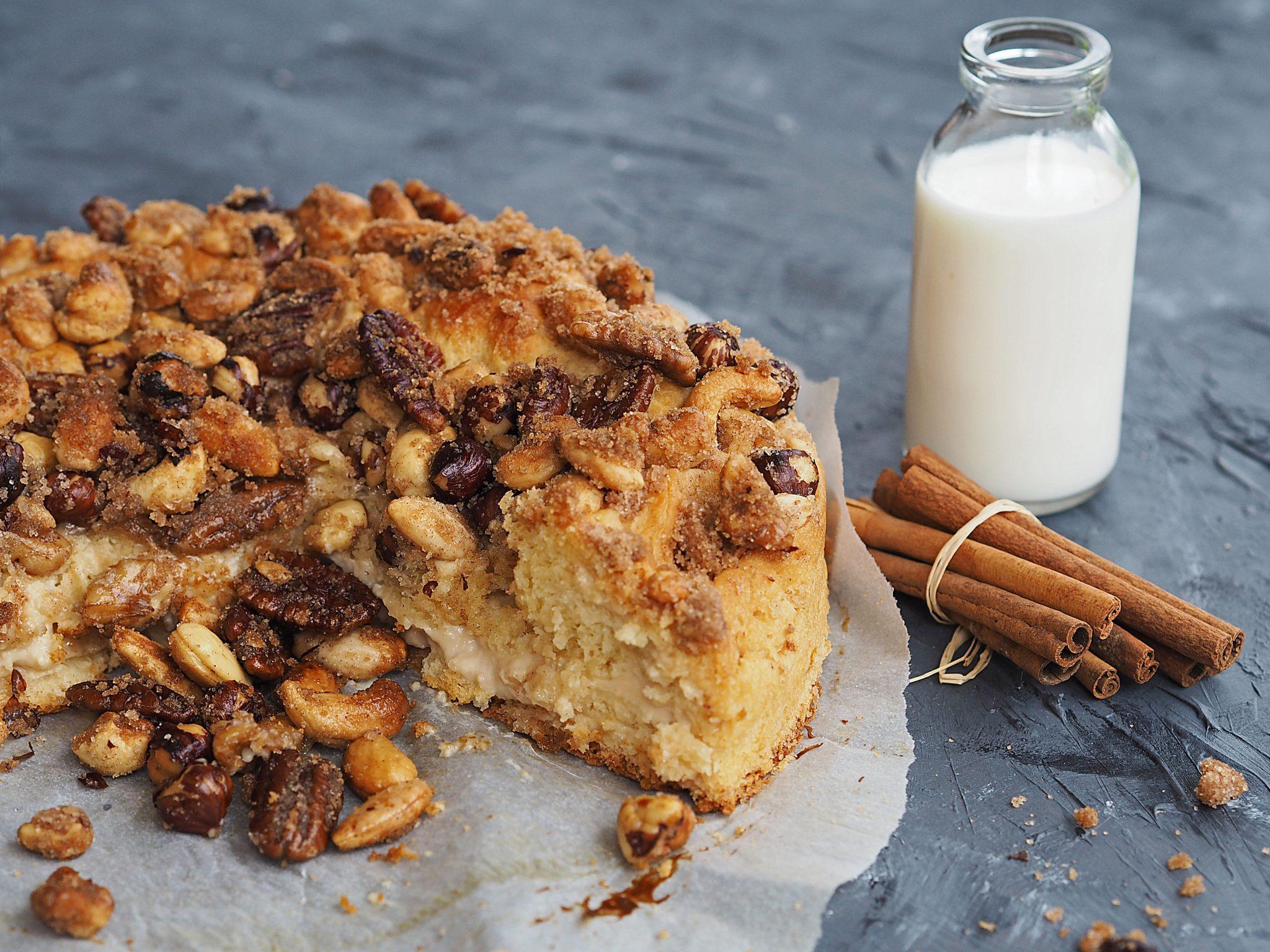 Kuchen mit Puddingfüllung