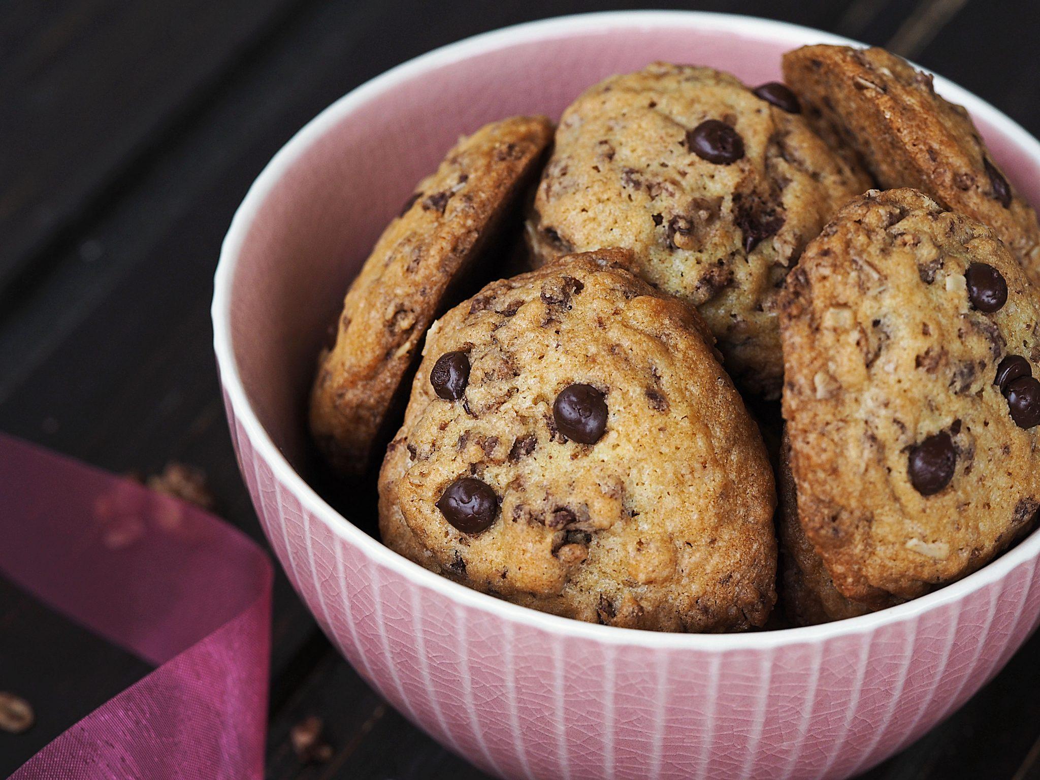 Chocolate Chip Cookies mit Knuspermüsli