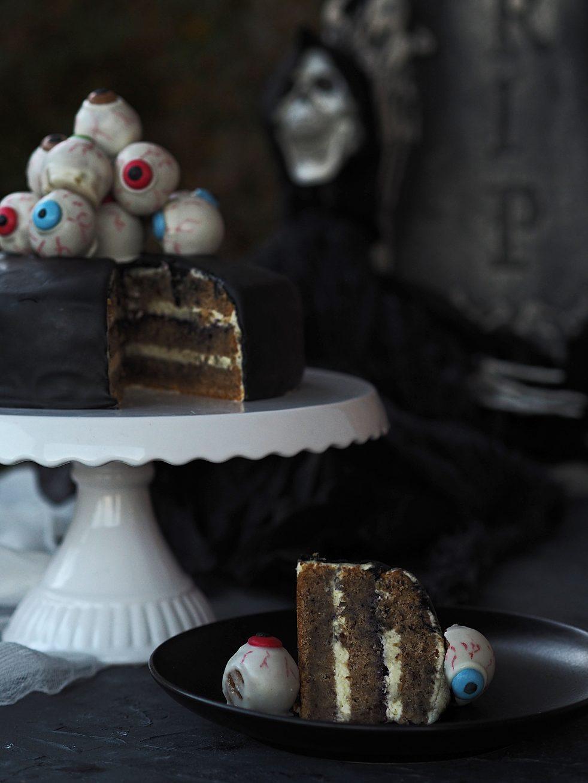 gruselige Torte für Halloween