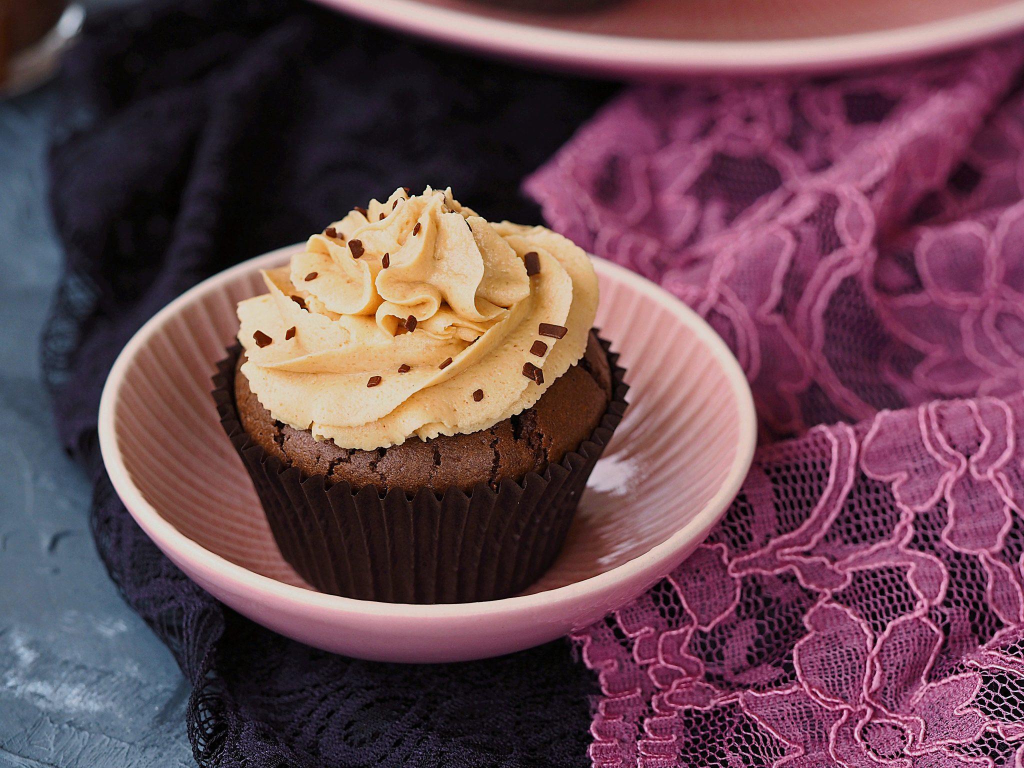 Erdnussbutter Schoko Cupcakes