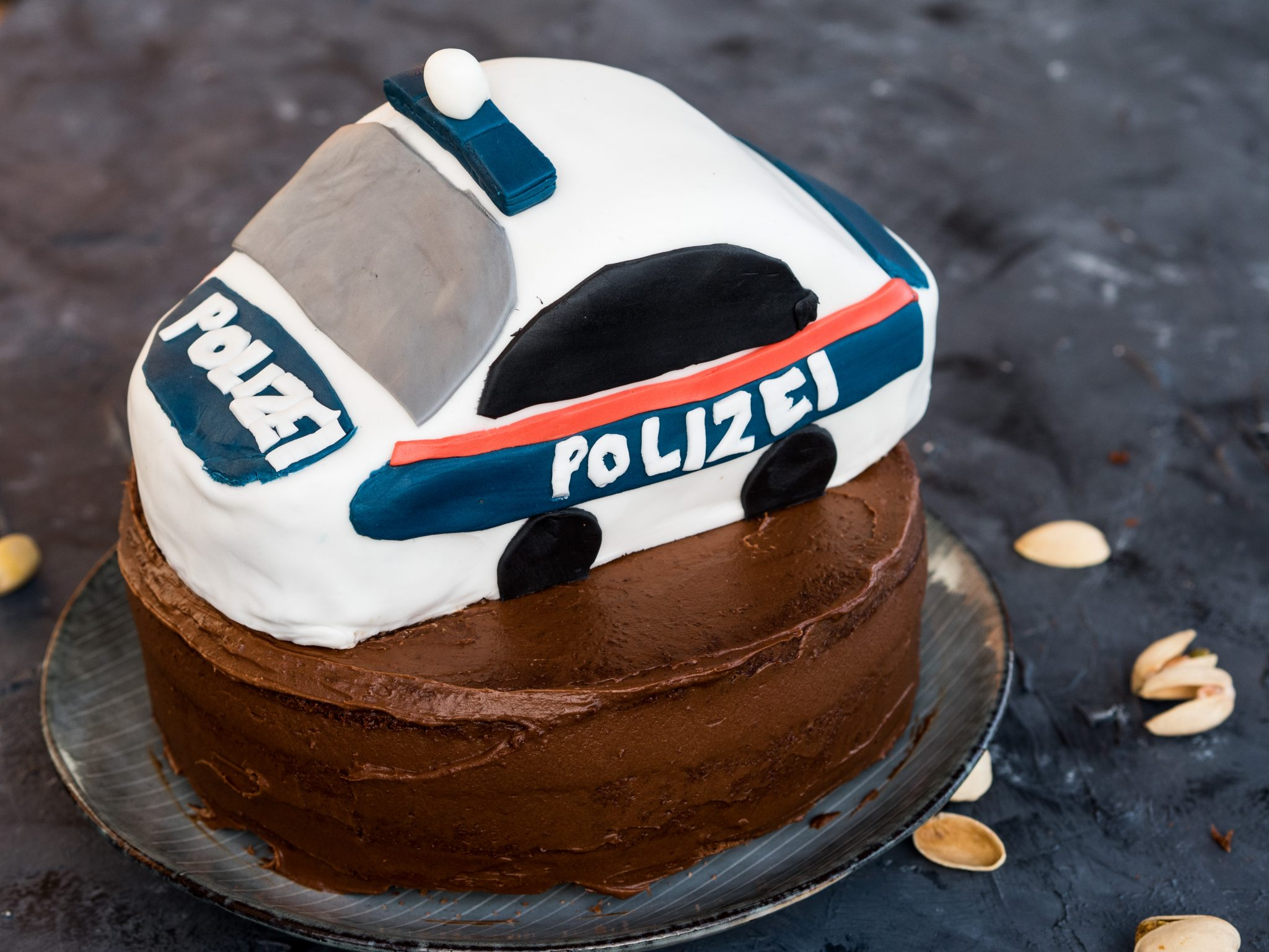 Polizeiauto Torte Kindergeburtstag