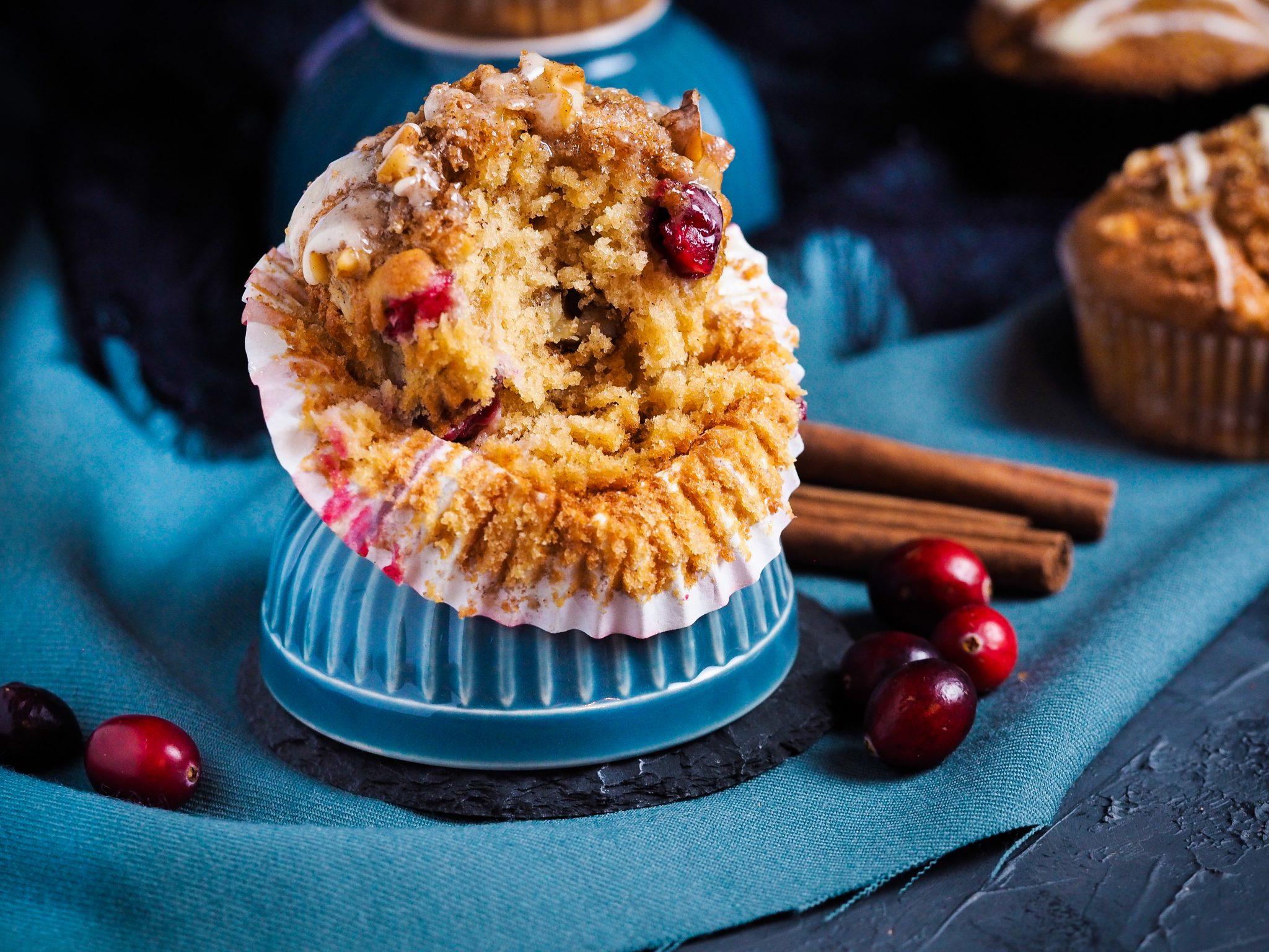 Zimtmuffins mit Cranberries