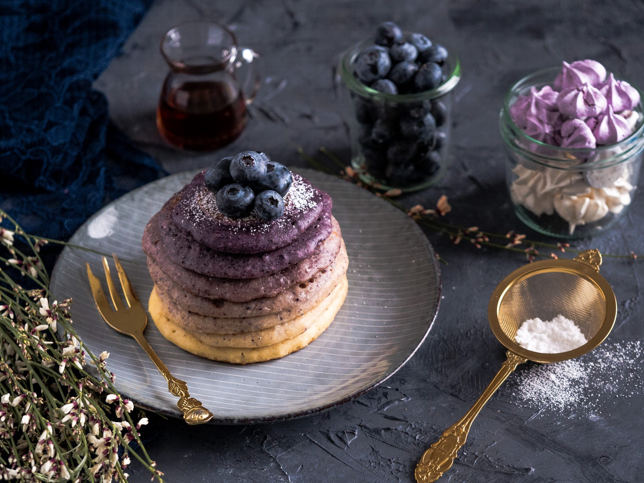 Ombre Buttermilch-Pancakes