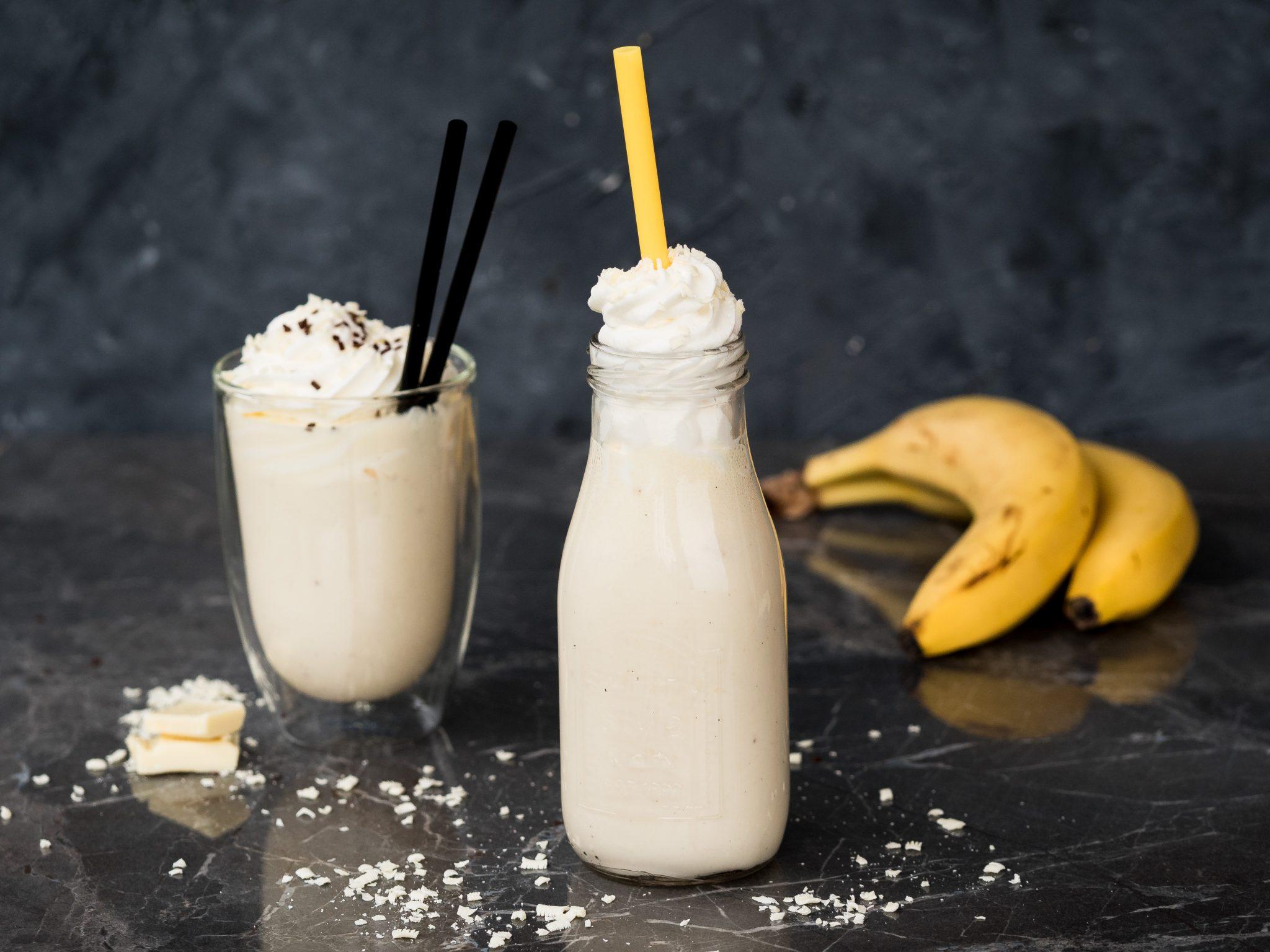 Schokoladenmilch mit Banane