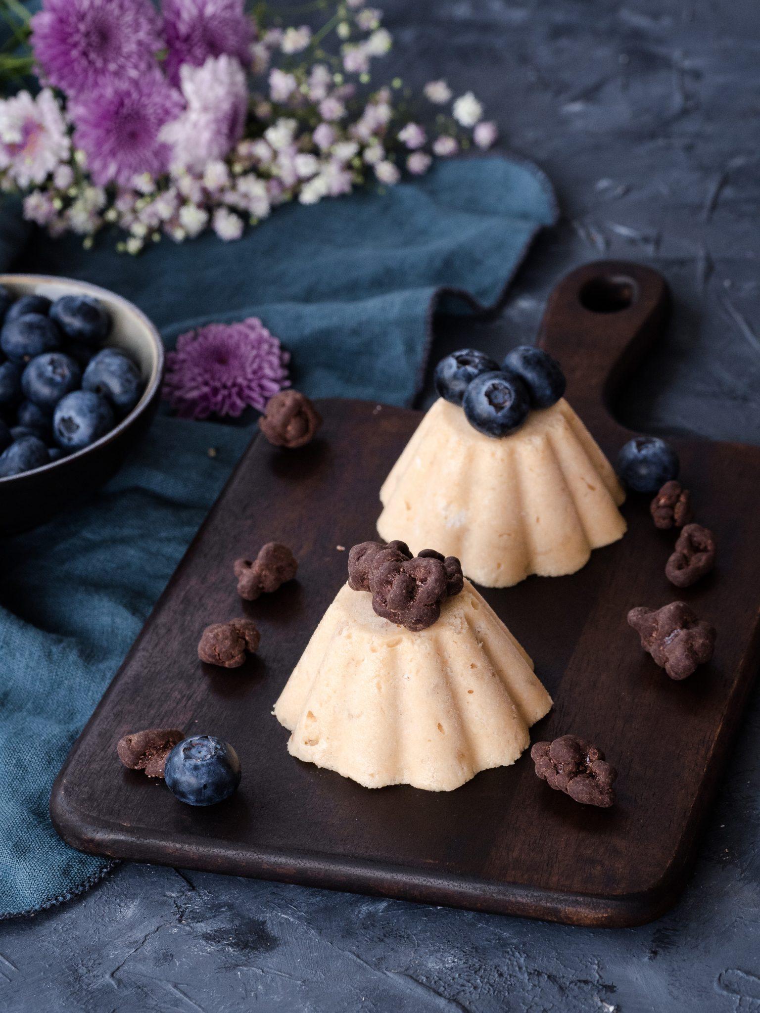 Macadamia Parfaits mit Schoko-Popcorn