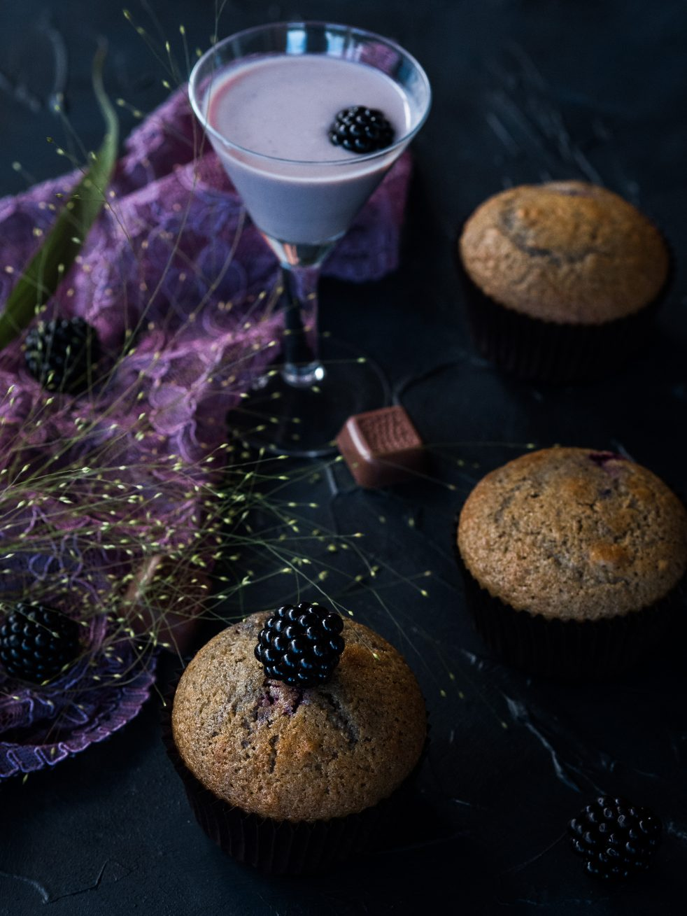 Brombeer-Muffins